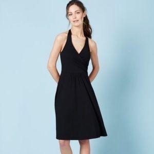 Make Offer Boden Halter St Lucia Black Wrap Dress